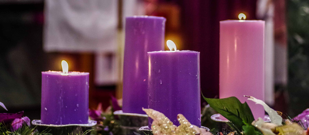 """This Advent, let us remember... the words of the angel, """"Do not be afraid!"""""""