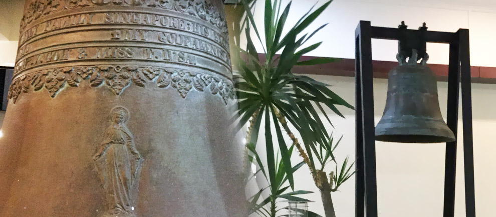 This bell is part of our 80 year history. Learn more about the parish's origins by clicking here.